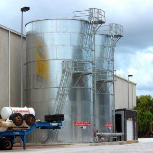 Lytton Warehouse Sprinkler Tanks