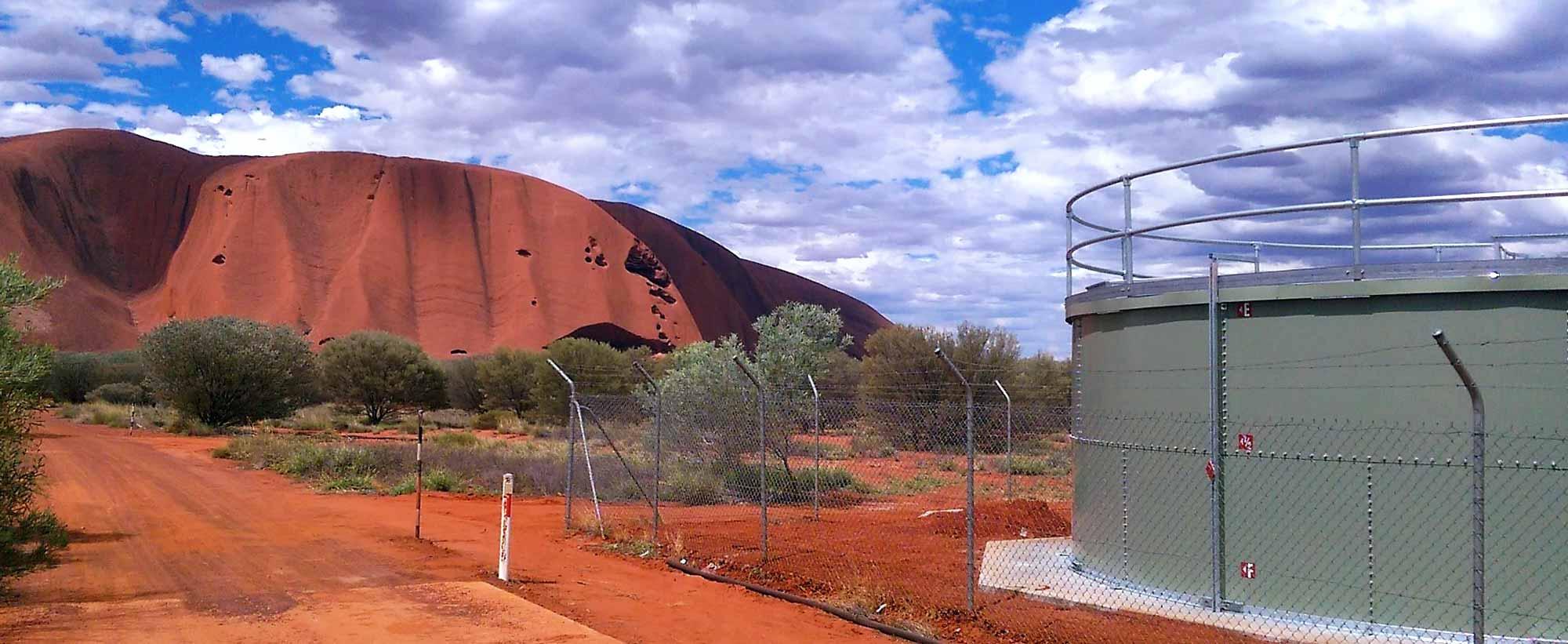 Uluru Kata Tjuta water storage tank